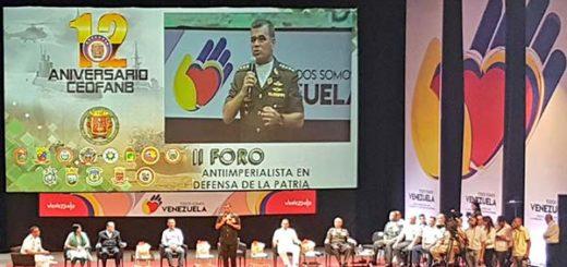 Padrino López durante Foro Antiimperialista   Foto: Twitter