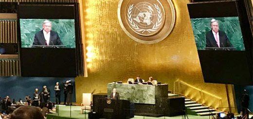 Discurso en Asamblea General de la ONU de Antonio Guterres | Foto: Twitter