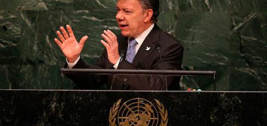 Presidente Juan Manuel Santos en la ONU | Foto: Twitter