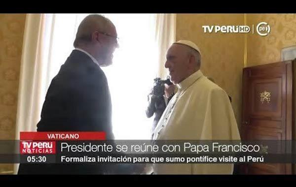 Presidente de Perú, Pedro Pablo Kuczynski junto al Papa Francisco | Foto: Twitter
