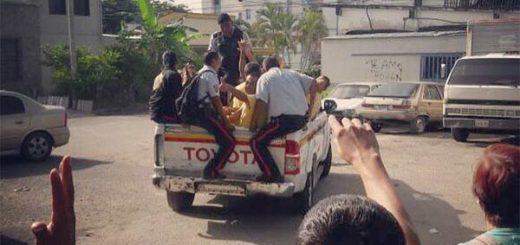 Poliaragua desacata orden de liberación para estudiantes de la Upel Maracay   Foto: Twitter