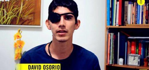 David Osorio, víctima de la represión | Foto: Captura de video