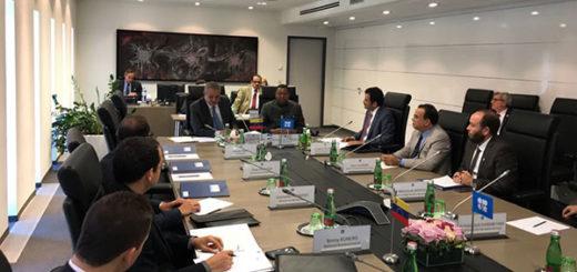 Venezuela y secretario de la OPEP revisan temas de acuerdo petrolero en Viena | Foto: @delpinoeulogio
