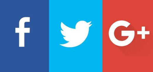 Logos de Facebook,Twitter y Google+ | Imagen referencial