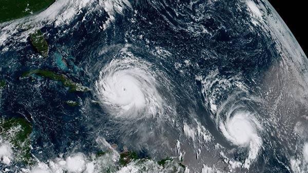 Huracán José acompaña a Irma en su trayecto por el Caribe, además Katia viene tras de ellos  Foto: Reuters