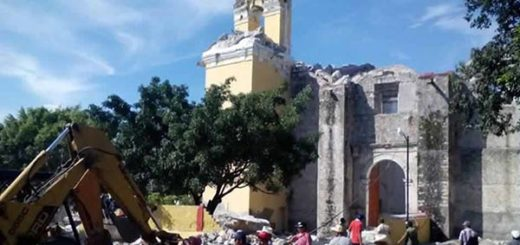 Iglesia se derrumba en México  Foto cortesía