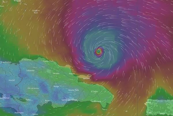 Irma empieza a hacerse sentir en República Dominicana  Foto: RT
