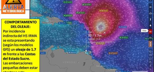 Irma afecta el oleaje en el estado Sucre |Foto: Protección Civil