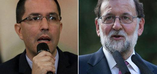 Jorge Arreaza / Mariano Rajoy | Composición: NotiTotal