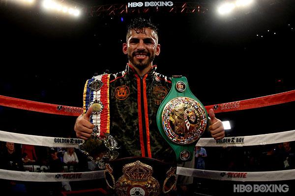 Jorge Linares se quedó con el título ligero de la AMB | Foto: HBO BOXING