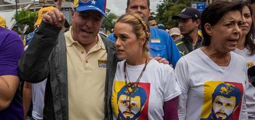 Activista de DDHH, Lilian Tintori junto al presidente de la AN, Julio Borges |Foto cortesía