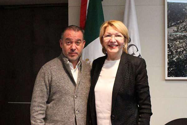 Luisa Ortega Díaz, junto al procurador de México  Foto: Twitter