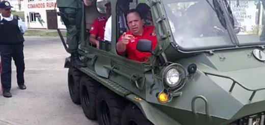 FANB prestó vehículos militares a Marco Torres| Foto Twitter
