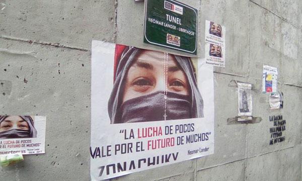 Avenida Libertador amaneció sin los tributos a Neomar Lander | Foto cortesía