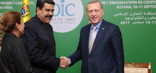 Presidente Nicolás Maduro con su homólogo de Turquía, Erdogan |Foto: Prensa presidencial