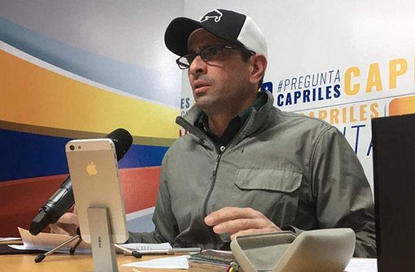 Henrique Capriles, gobernador de Miranda |Foto: Nota de prensa