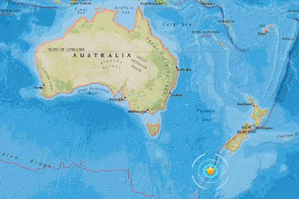 Terremoto de magnitud 6,1 sacude las aguas del sur de Nueva Zelanda   Foto cortesía