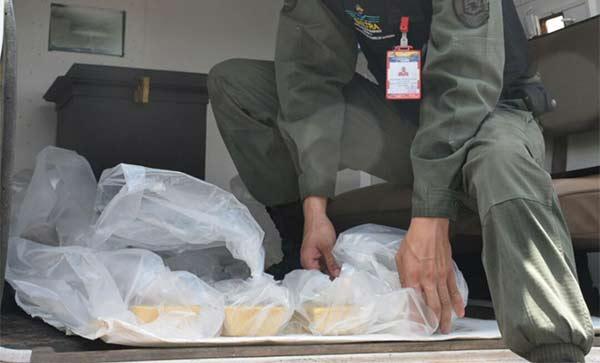 La GNB custodió el traslado del oro |Foto Twitter