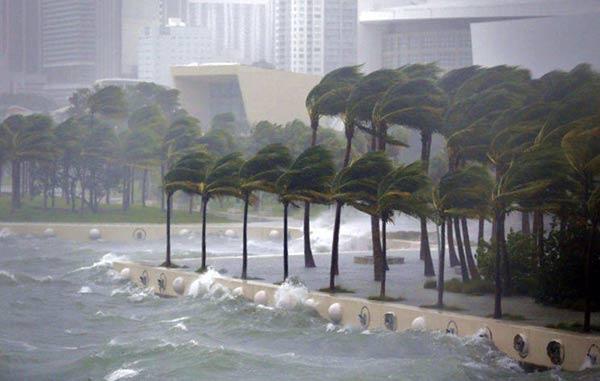 Palm Beach quedó inundada por el paso del huracán de Irma  Foto cortesía