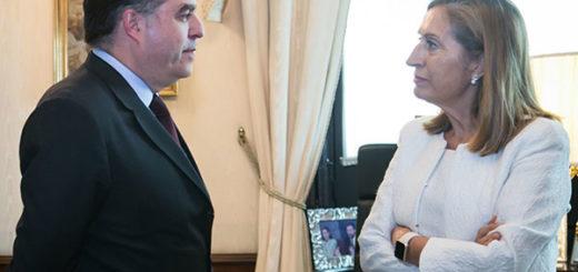 El presidente de la AN, Julio Borges, junto a la presidenta del Congreso español, Ana Pastor Julián | Foto: @Congreso_ES