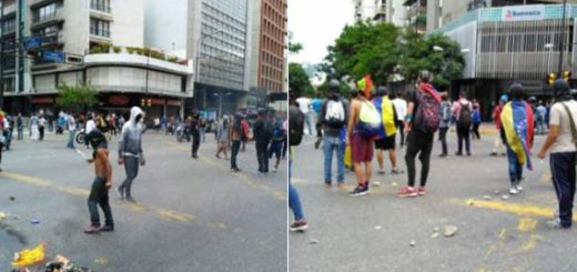 """Así fue la represión de la GNB contra protesta de la """"Resistencia"""" en Chacao"""