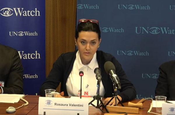 La esposa del disidente hispano-venezolano Yon Goicochea, Rosaura Valentini | Captura de video
