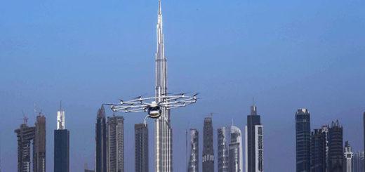 El primer 'taxi dron' autopilotado despega en Dubái | Foto: Dubai Media Oficce