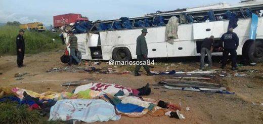 Accidente en la autopista Lara - Zulia