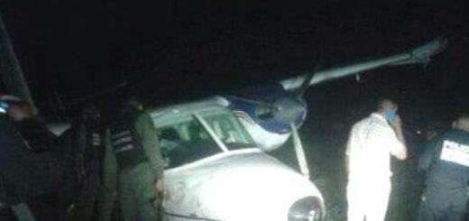 Avión accidentada en Falcón | Foto: Primera Página