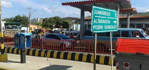 Estación de gasolina en Margarita | Foto: Twitter