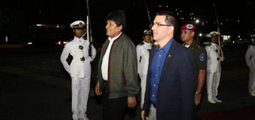 Evo Morales en su llegada a Venezuela | Foto: Twitter