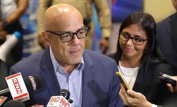 Jorge y Delcy Rodríguez, representantes del Gobierno en el diálogo