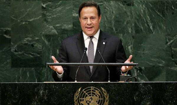 Juan Carlos Varela, presidente de Panamá, en la ONU   Foto: EFE
