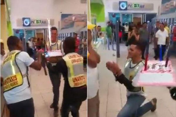 Propuesta de matrimonio de un venezolano revoluciona a República Dominicana  | Captura de video