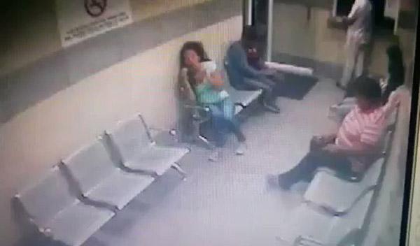 Robo en clínica de Caracas | Foto: captura de video