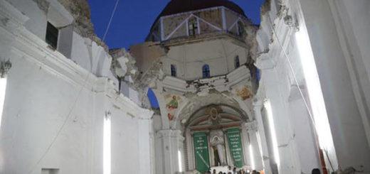 Terremoto en México derrubó iglesia | Foto: EFE
