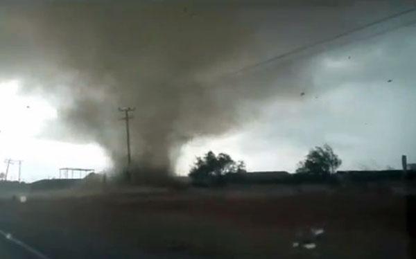 """El """"tornado"""" que se vio en Margarita este lunes   Captura de video"""