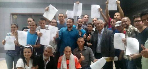 Estudiantes de la UPEL liberados | Foto: Twitter