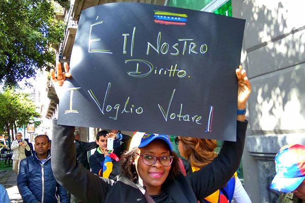 Venezolanos en Italia   Foto: Archivo