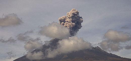 Volcán Popocatépetl hace erupción tras sismo de 7.1 en México   Foto: @Popocatepetl_MX
