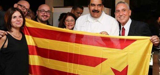 El único apoyo cosechado por los independentistas catalanes es el de Maduro   Foto: Cortesía