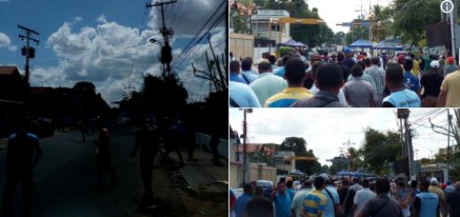 Tensión en Ciudad Bolívar tras espera de resultados electorales en la entidad (+video)