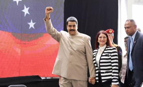 El presidente Nicolás Maduro junto a la Primera Dama, Cilia Flores |Foto: Prensa presidencial