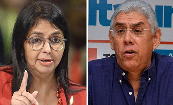 Delcy Rodríguez no quería juramentar a Barreto Sira   Composición