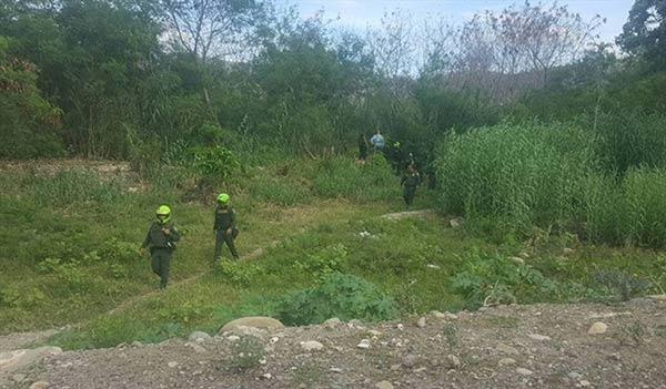 Fosa común en la frontera colombo-venezolana  Foto cortesía
