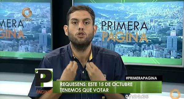 Juan Requesens, diputado de la Asamblea Nacional (AN) | Foto: Captura de video