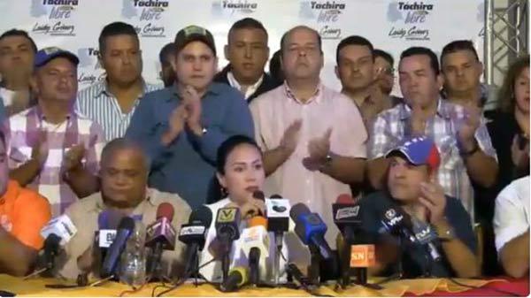 Gobernadora electa del estado Táchira, Laidy Gómez | Foto: Captura de video
