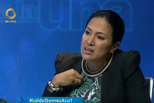Leidy Gómez, gobernadora del estado Táchira | Captura de video