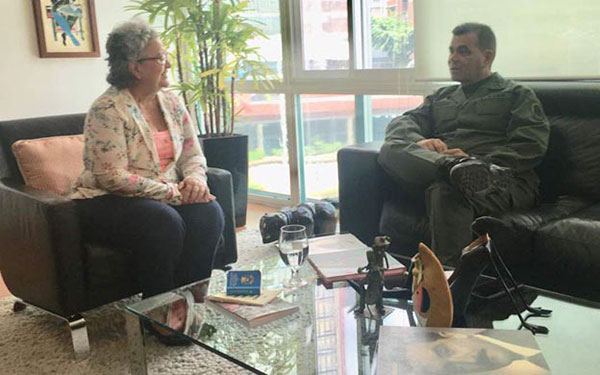 Padrino López y Tibisay Lucena ultimaron detalles para las regionales | Foto: Twitter