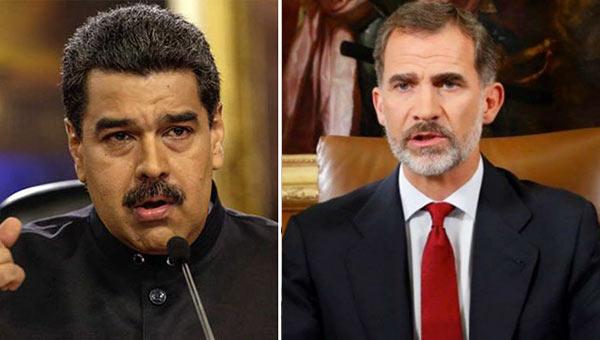 Nicolás Maduro y el Rey de España | Imagen referencial